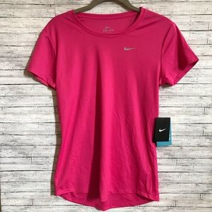 NWT Nike pink dry fit workout top